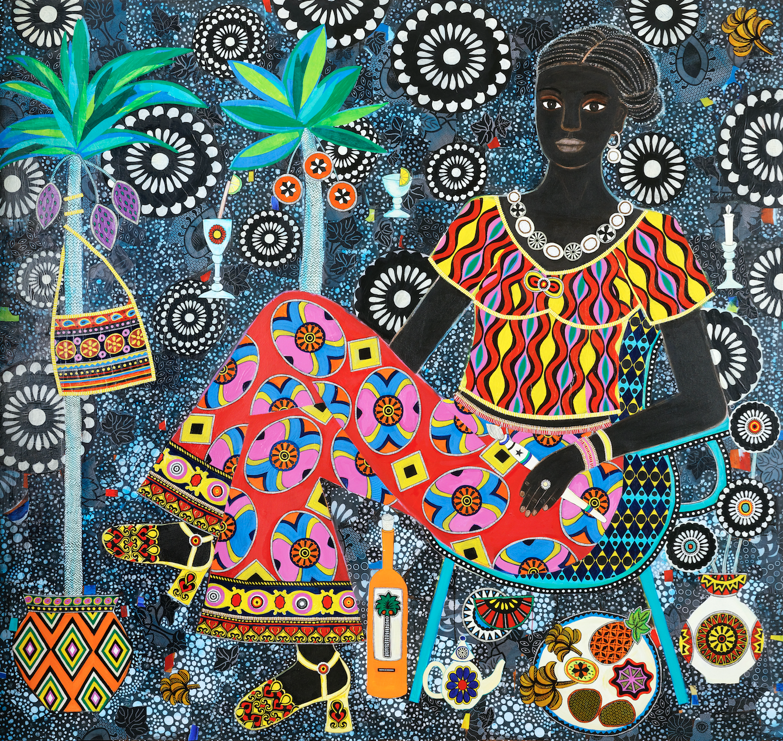 Carla Kranendonk,  Yande, 2019, Mixed Media on Canvas, 170 x 180 cm