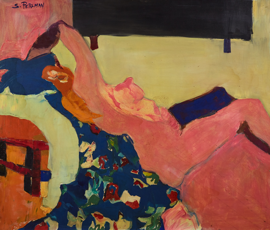 Suzanne Perlman, Siesta, 1973, Oil on canvas, 100 x 118 cm.