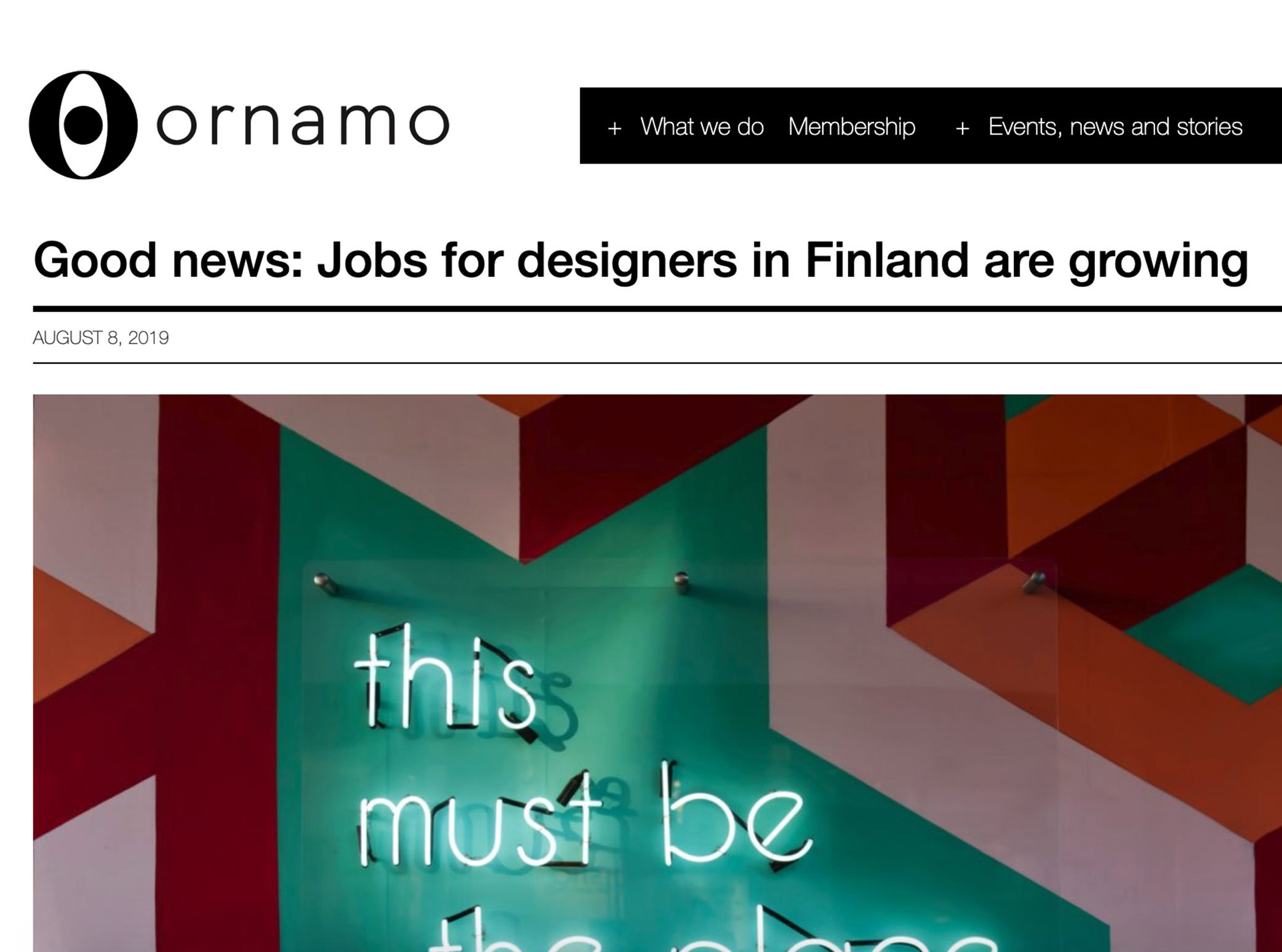 Good news: Jobs for designers in Finland are growing