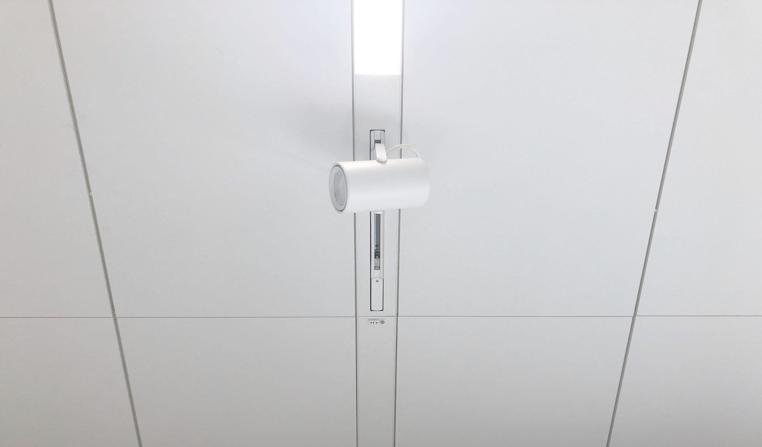 Integreret 3-faset strømskinne DALI for spot