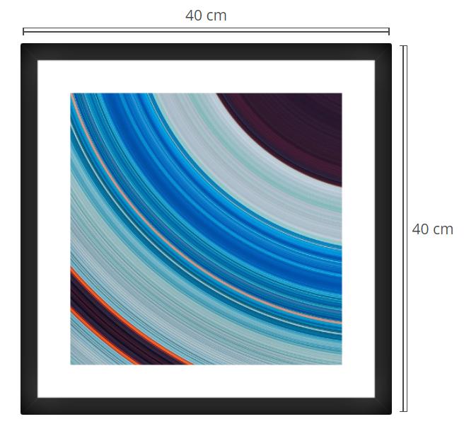 Orbit - Product: Framed PhotoPhoto Format: 40x40 cmDecor Frame: Black Matte