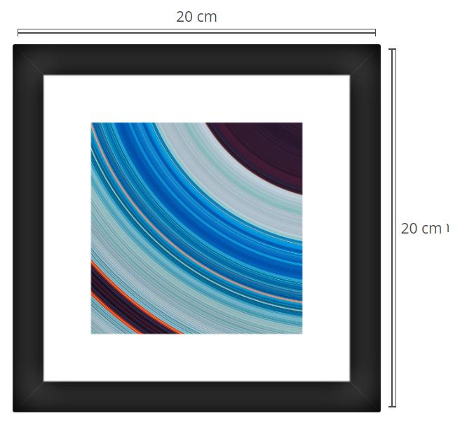 Orbit 2 - Product: Framed PhotoPhoto Format: 20x20 cmDecor Frame: Black Matte
