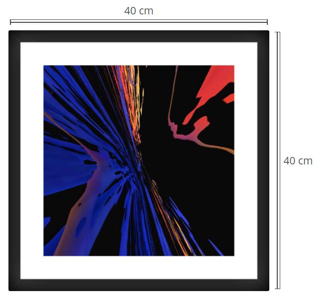 Light Speed - Product: Framed PhotoPhoto Format: 40x40 cmDecor Frame: Black Matte