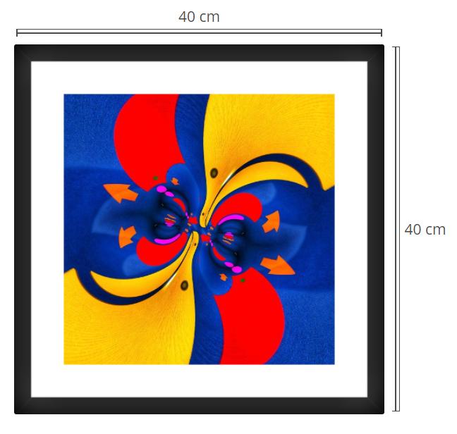 Emoji - Product: Framed PhotoPhoto Format: 40x40 cmDecor Frame: Black Matte