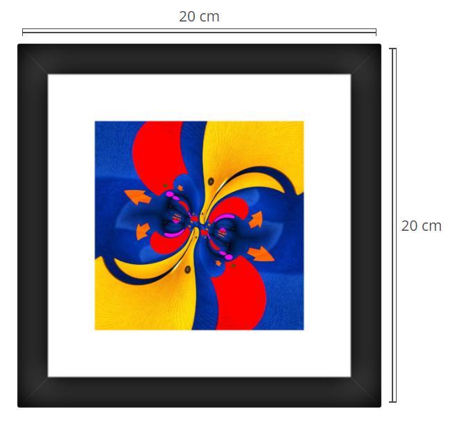 Emoji 2 - Product: Framed PhotoPhoto Format: 20x20 cmDecor Frame: Black Matte