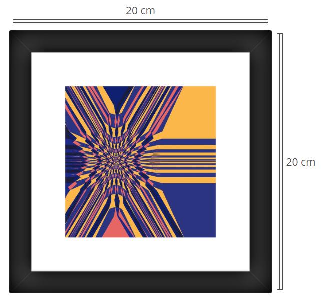 Lota 2 - Product: Framed PhotoPhoto Format: 20x20 cmDecor Frame: Black Matte