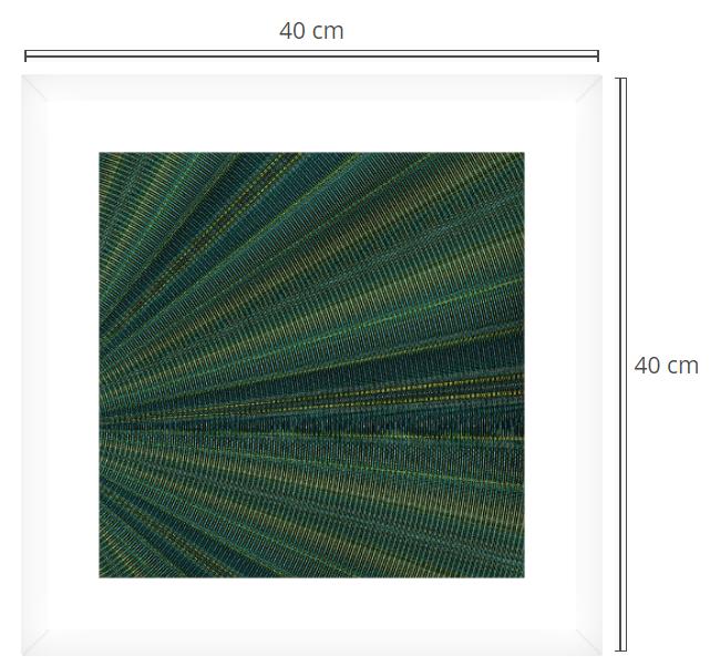 Chrome waves - Product: Framed PhotoPhoto Format: 40x40 cmDecor Frame: White