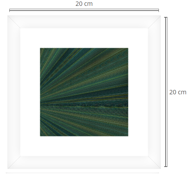 Chrome waves 2 - Product: Framed PhotoPhoto Format: 20x20 cmDecor Frame: White