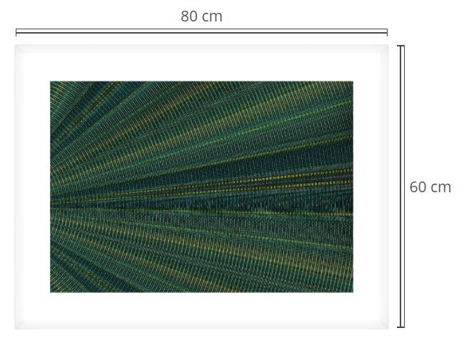 Chrome waves 3 - Product: Framed PhotoPhoto Format: 80x60 cmDecor Frame: White