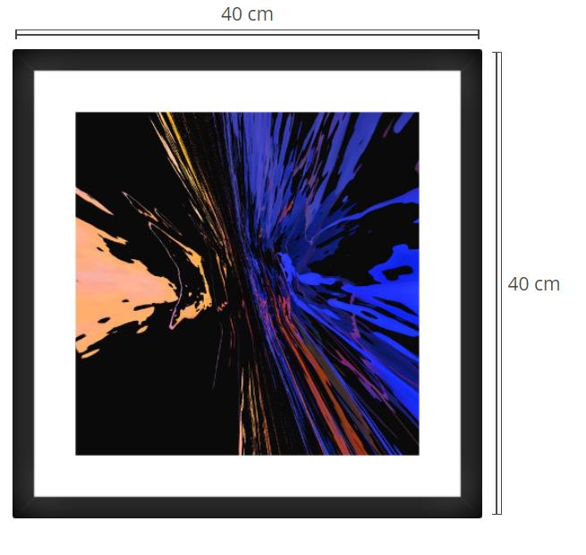 Eagle Splash - Product: Framed PhotoPhoto Format: 20x20 cmDecor Frame: Black Matte