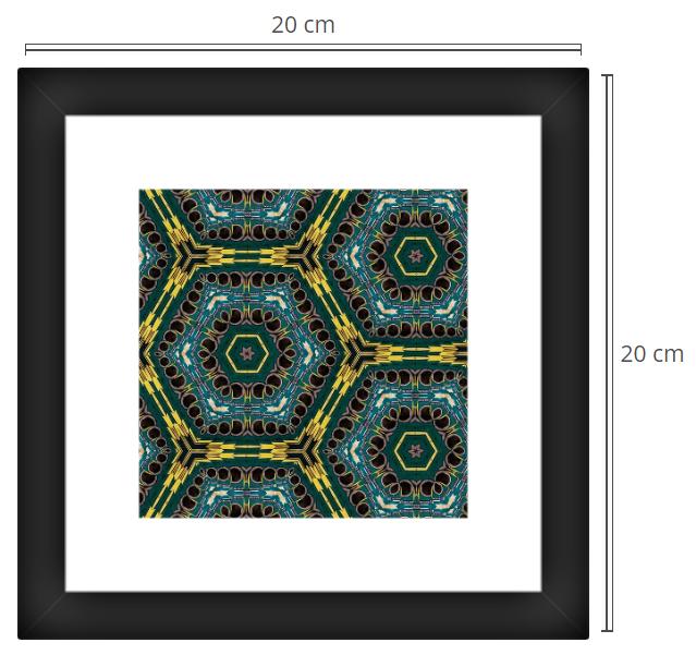 Golden Rings 2 - Product: Framed PhotoPhoto Format: 20x20 cmDecor Frame: Black Matte