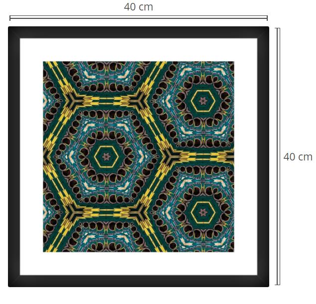 Golden Rings - Product: Framed PhotoPhoto Format: 40x40 cmDecor Frame: Black Matte