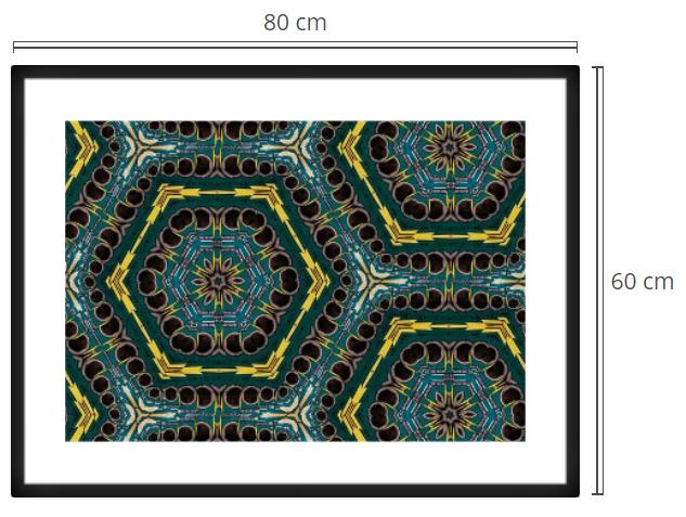 Golden Rings 3 - Product: Framed PhotoPhoto Format: 80x60 cmDecor Frame: Black Matte