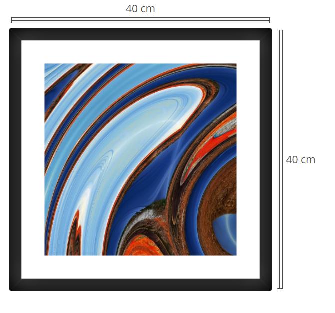 Rua - Product: Framed PhotoPhoto Format: 40x40 cmDecor Frame: Black Matte