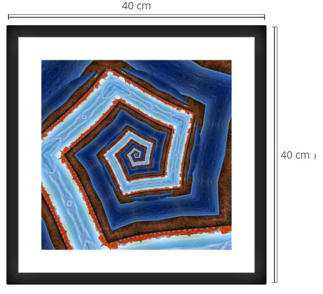 Spiral - Product: Framed PhotoPhoto Format: 40x40 cmDecor Frame: Black Matte