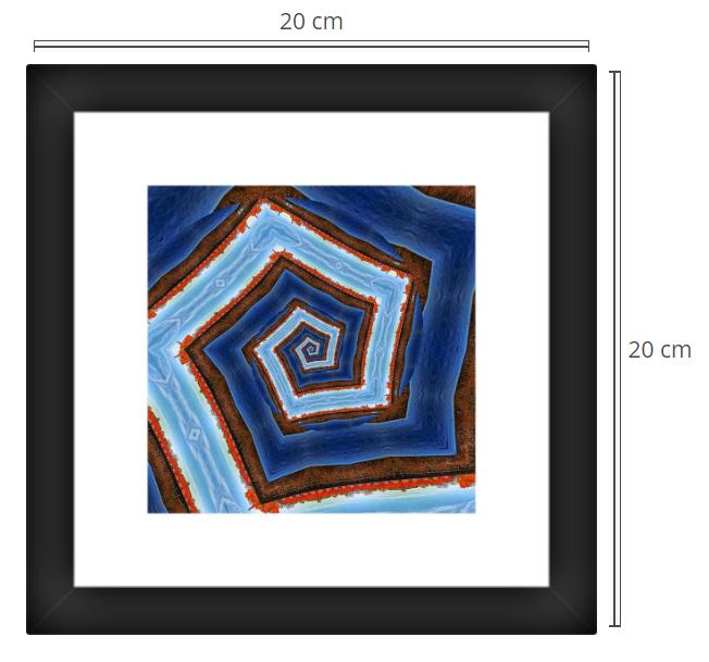 Spiral 2 - Product: Framed PhotoPhoto Format: 20x20 cmDecor Frame: Black Matte