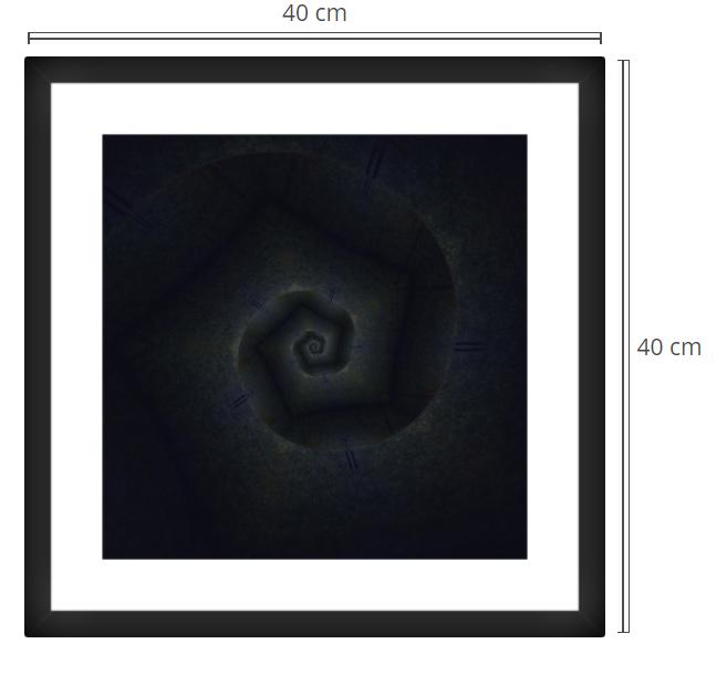 Forte - Product: Framed PhotoPhoto Format: 40x40 cmDecor Frame: Black Matte