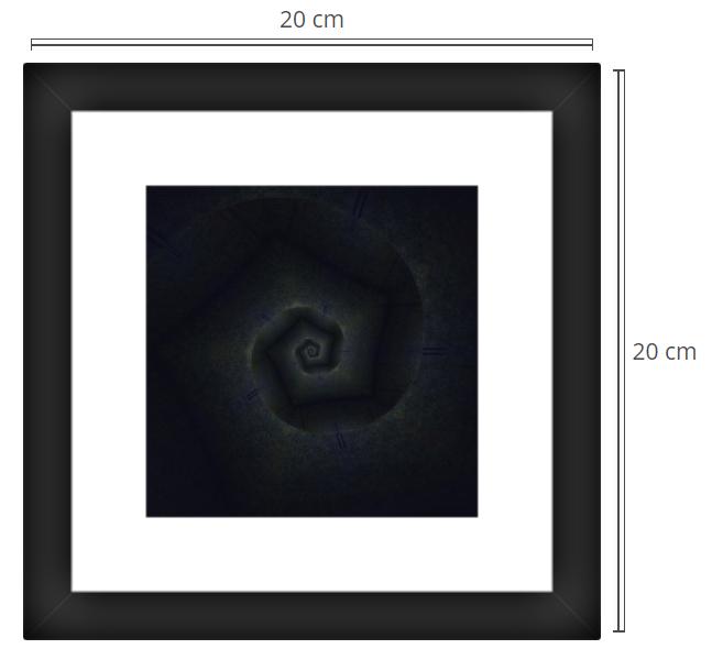 Forte - Product: Framed PhotoPhoto Format: 20x20 cmDecor Frame: Black Matte