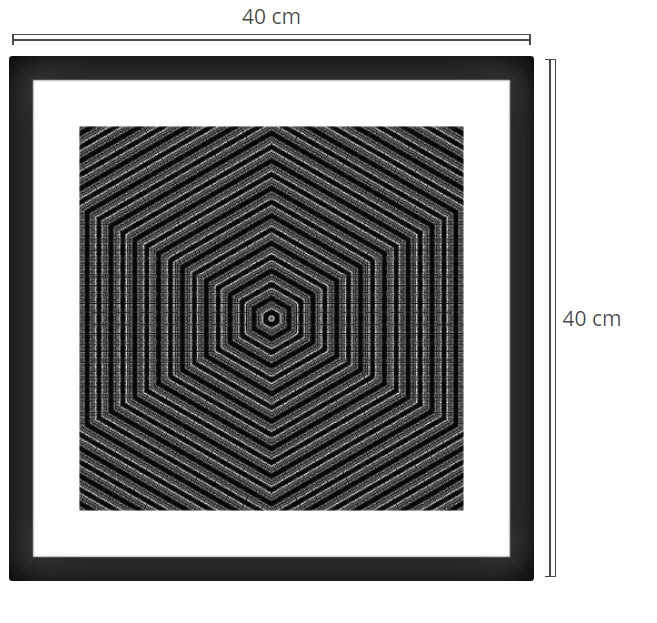 Quadro - Product: Framed PhotoPhoto Format: 40x40 cmDecor Frame: Black Matte