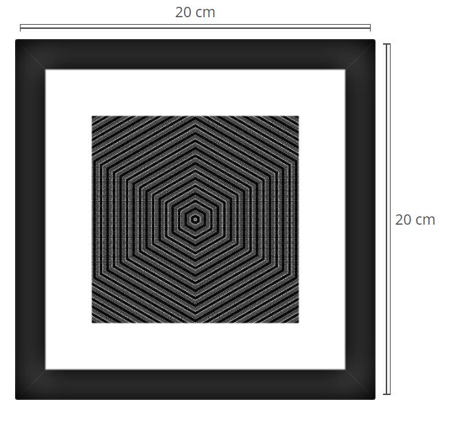 Quadro 2 - Product: Framed PhotoPhoto Format: 20x20 cmDecor Frame: Black Matte