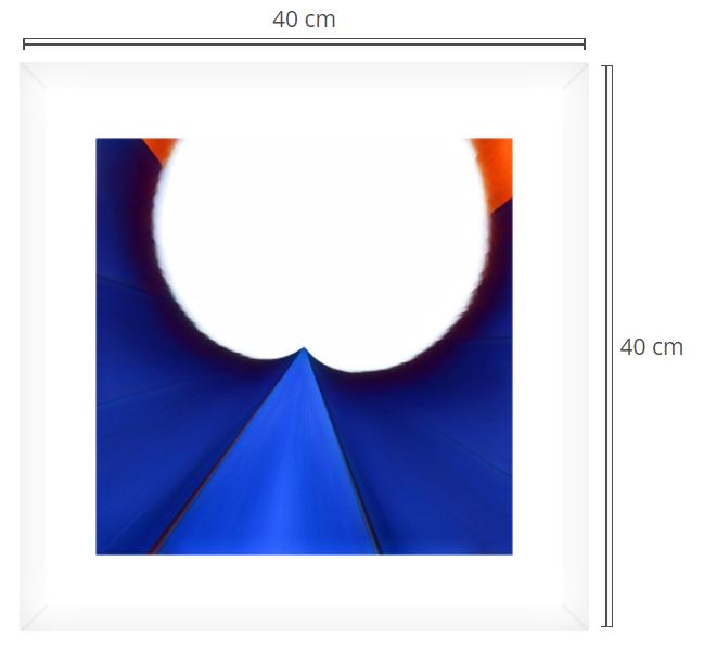 Tulip - Product: Framed PhotoPhoto Format: 40x40 cmDecor Frame: White
