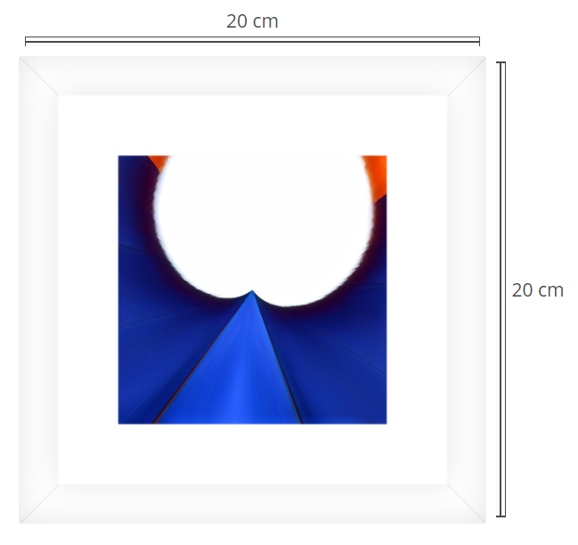 Tulip 2 - Product: Framed PhotoPhoto Format: 20x20 cmDecor Frame: White