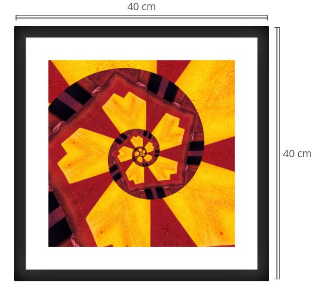 Daffodil - Product: Framed PhotoPhoto Format: 40x40 cmDecor Frame: Black Matte