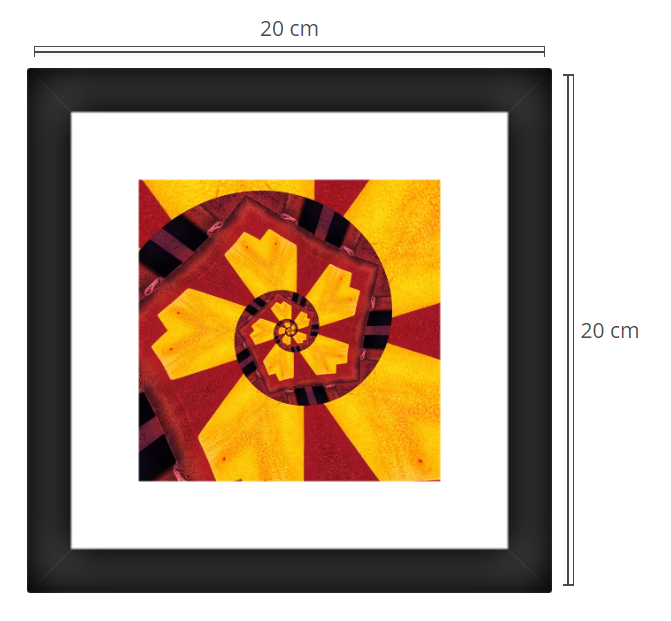 Daffodil 2 - Product: Framed PhotoPhoto Format: 20x20 cmDecor Frame: Black Matte