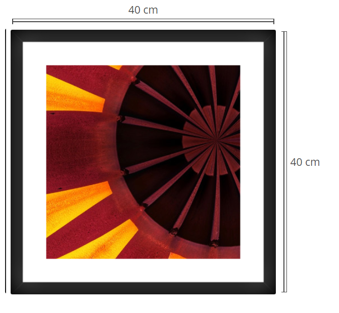 Porte - Product: Framed PhotoPhoto Format: 40x40 cmDecor Frame: Black Matte