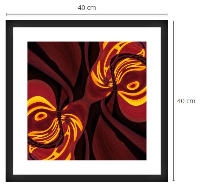 Plato - Product: Framed PhotoPhoto Format: 40x40 cmDecor Frame: Black Matte