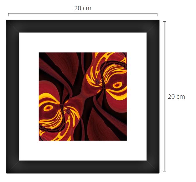 Plato - Product: Framed PhotoPhoto Format: 20x20 cmDecor Frame: Black Matte