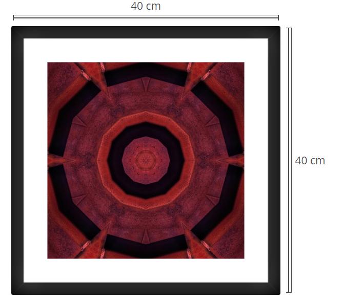 Gate - Product: Framed PhotoPhoto Format: 40x40 cmDecor Frame: Black Matte