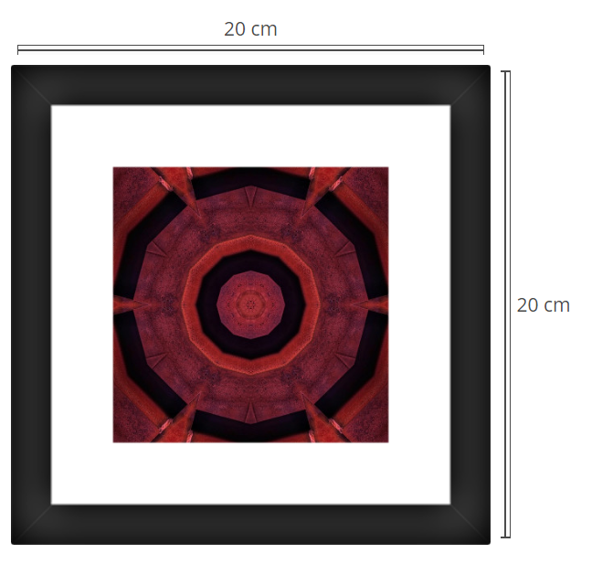 Gate 2 - Product: Framed PhotoPhoto Format: 20x20 cmDecor Frame: Black Matte