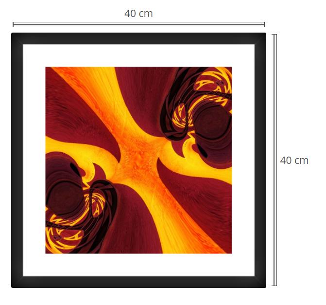 Quantium - Product: Framed PhotoPhoto Format: 40x40 cmDecor Frame: Black Matte