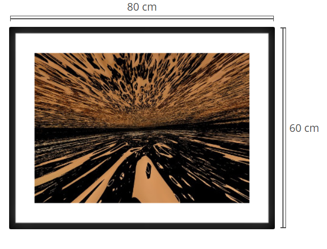 Splash - Product: Framed PhotoPhoto Format: 80x60 cmDecor Frame: Black Matte