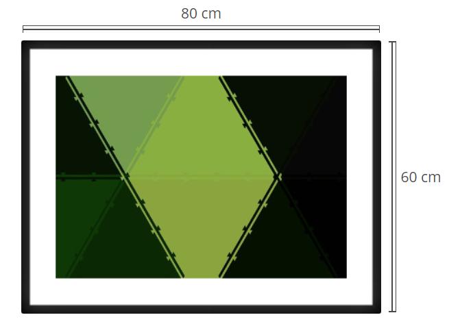 Green Tiles - Product: Framed PhotoPhoto Format: 80x60 cmDecor Frame: Black Matte