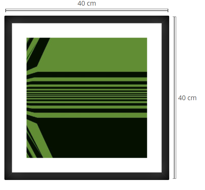 Proxima - Product: Framed PhotoPhoto Format: 40x40 cmDecor Frame: Black Matte