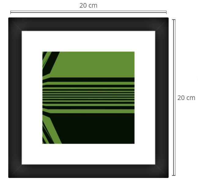Proxima 2 - Product: Framed PhotoPhoto Format: 20x20 cmDecor Frame: Black Matte