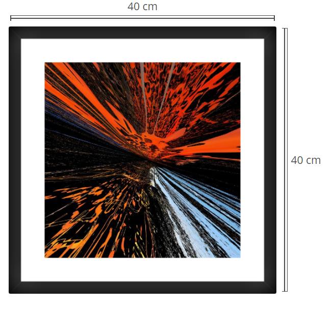 Alpha - Product: Framed PhotoPhoto Format: 40x40 cmDecor Frame: Black Matte