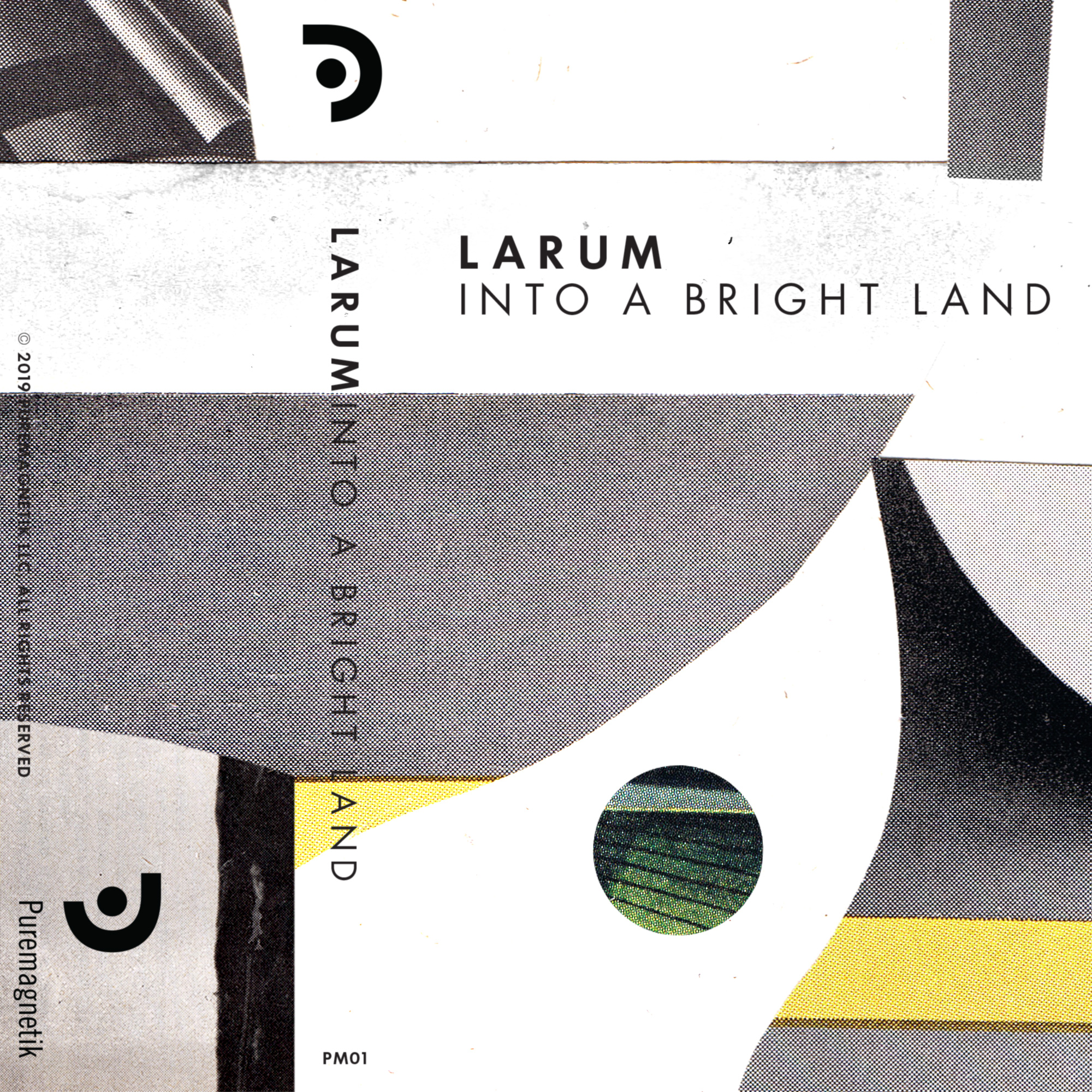 "Larum, Into a Bright Land, 2019   Best new ambient on Bandcamp: April 2019   ""Into a Bright Land is in turns crystalline and delicate, warm and lush as a thick blanket."" -Peter Kirn, Create Digital Music  ""...many elements appear that make evident Frank's willingness to push his sound into unexpected places. For me, that makes Into a Bright Land all the more profound an experience."" -Ari Delaney, Bandcamp  Into a Bright Land tells a story of California's natural places, through field recordings, immense synthetic textures and acousmatic sounds. The album was born from acoustic ecology studies by Puremagnetik sound designer Micah Frank; captured on the shores of Point Reyes to mountains in Big Sur and ancient forests of Yosemite. It was later assembled in the studio and augmented with algorithmic programming in Csound.  The result is a journey through landscapes possibly visited by the likes of Boards Of Canada, Susumu Yakota or GAS. It continues these musical conversations and establishes a solid foundation for the launch of the Puremagnetik label; which has plans for a packed release schedule this year.  Credits  Released March 21, 2019  Produced and recorded by Micah Frank  Field recordings from Big Sur State Park, Yosemite National Park and Sequoia National Park  Artwork by John Whitlock  Mastered by Taylor Deupree at 12k"