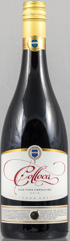 """2011 Colloca """"Old Vine 99"""" Grenache -"""
