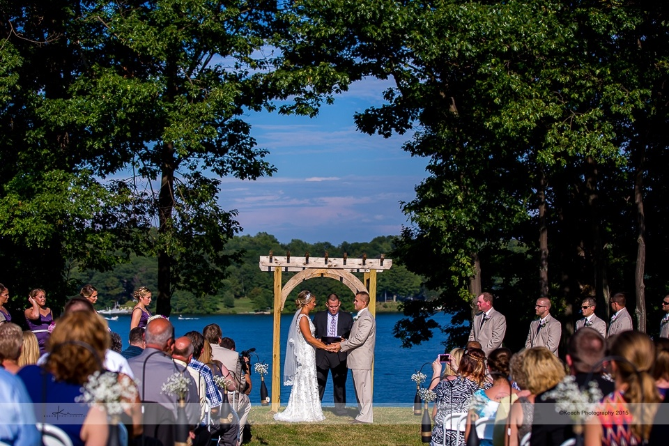 Waterfront nuptials under the Colloca Arch.