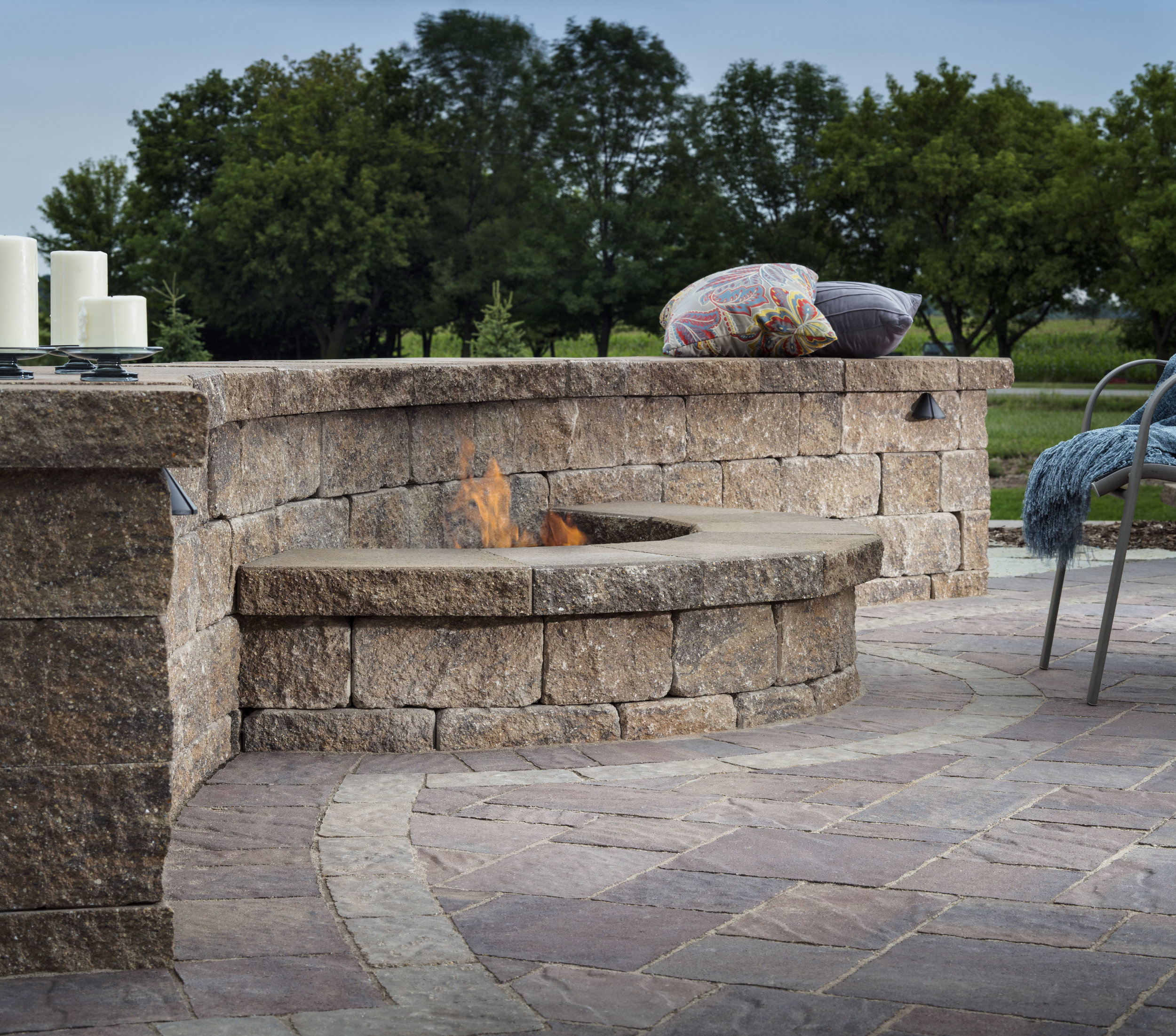 Vosters Landscaping | Firepit | Patio | Brick | Hardscape | Outdoor Living