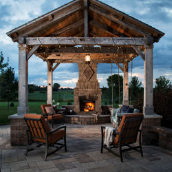 Vosters Landscaping | Fireplace | Outdoor Lighting | Brick  | Outdoor Living