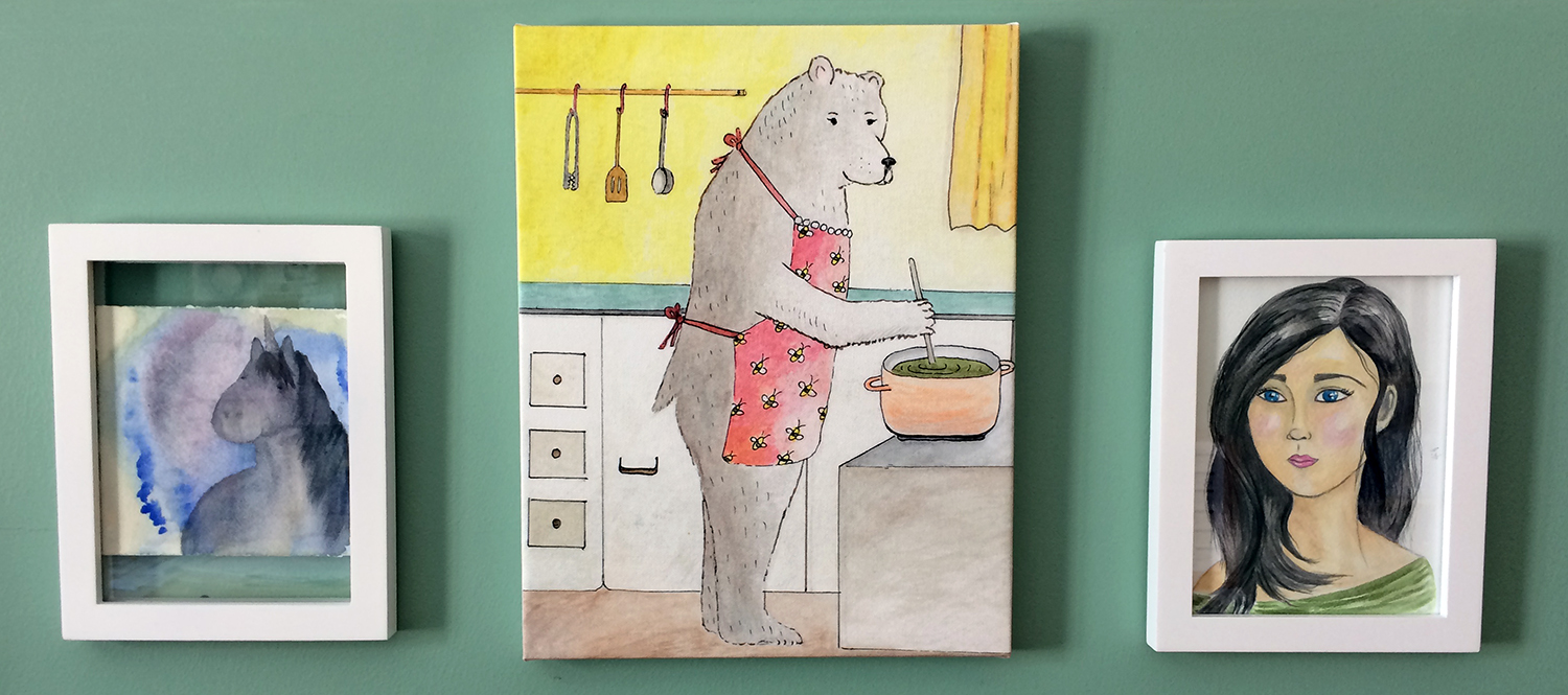 mrs-bear-painting-got sold-christina-hughes-art-and-illustration-blog