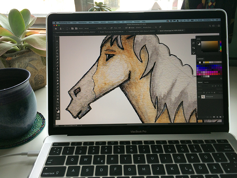 Whimsical Horse gets a make over