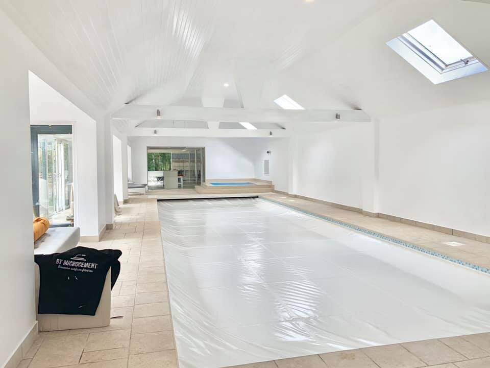 Decorating - Swimming pool area full decoration job completed by us, ceiling and walls.