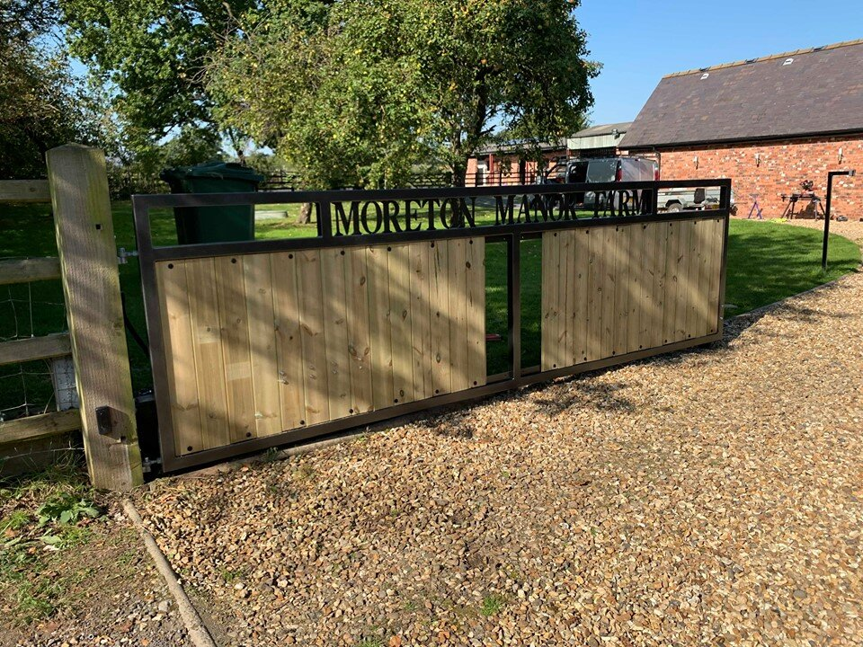 Garden works / Fabrication - Bespoke gate made to order, fabricated, powder coated and fitted.