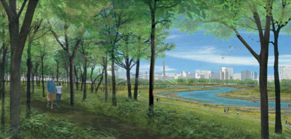 Rendering: Riverfront Trail