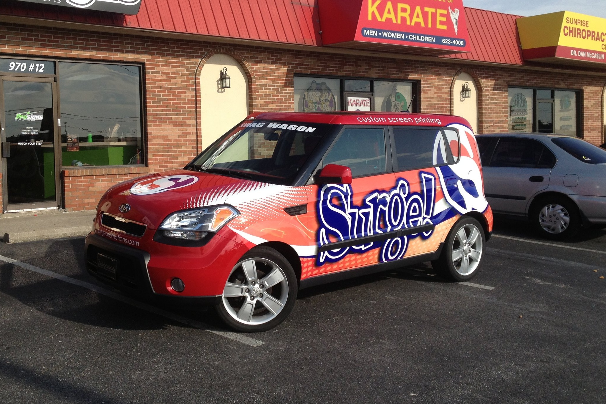 Vehicle Graphics - Take your branding on the road! Prosigns uses the finest materials available and has highly-skilled installers that create and install the perfect look for your ride. Anything from large fleet graphics to your custom hot rod, racing stripes to full vehicle wraps, Prosigns can help your ideas take shape.